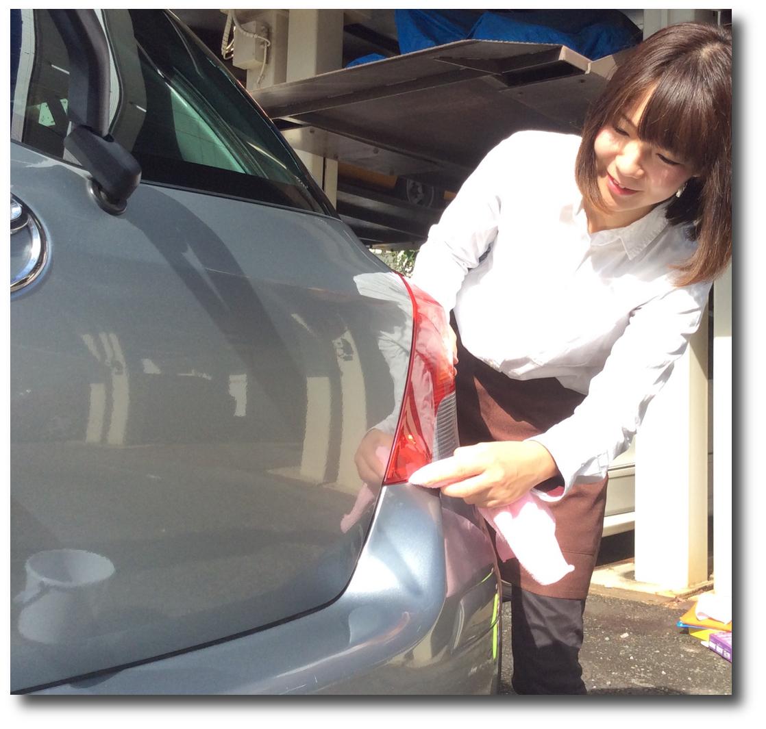 東京の出張洗車汚れの確認