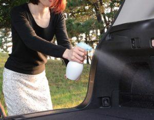 スプレータイプの車内女権