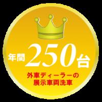 東京都出張洗車展示車実績2